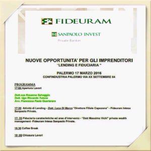 """Confindustria Palermo: """"Nuove opportunità per gli imprenditori – Lending & Fiduciaria"""""""